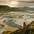 Stock Photo: Amazing landscape scenery with floating iceberg, Vatnajokull, Iceland