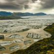 View of majestic glacier Vatnajokull, Iceland - Stock Photo