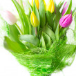 Bouquet of tulips isolated on white background — Stock Photo #10159990
