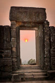 View of sunrise at the temple on the hill, Angkor Wat, Cambodia — Stock Photo