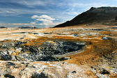Colorful landscape view of geothermal activity, Iceland — Stock Photo