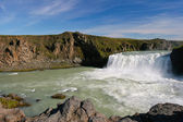 Landscape view of famous waterfall Godafoss in Iceland — Stock Photo