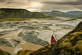 Amazing landscape scenery with a floating iceberg, Vatnajokull, Iceland — Stock Photo