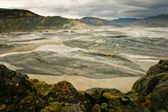 Panoramic of Vatnajokull glacier, Iceland — Stockfoto