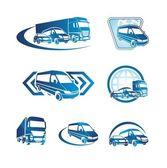 Ensemble d'icônes de transport — Vecteur