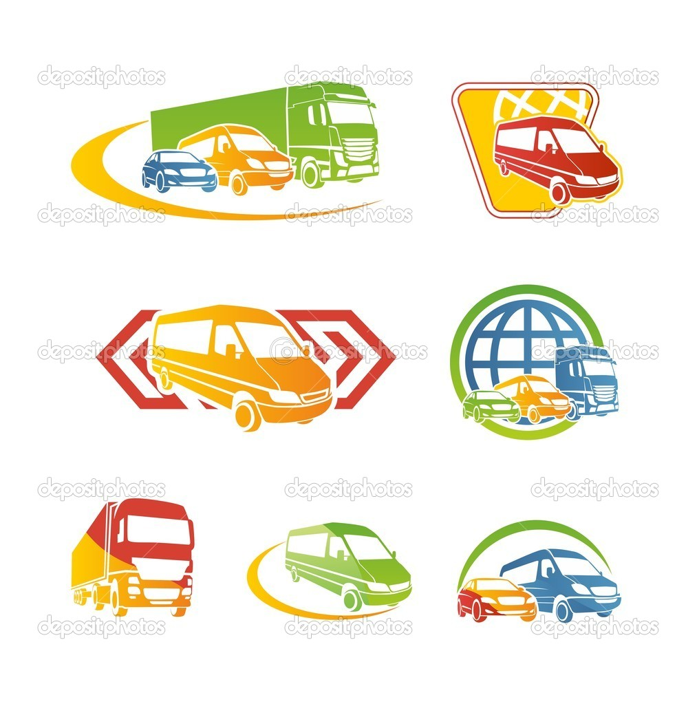 Set of transport icons — Stock Vector © kisika1 #10445988