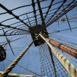 Three masts on tall ship - Stock Photo