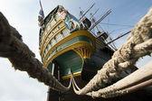 Aft VOC tall Ship stern — Stock Photo