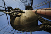Pulley on tall ship — Stock Photo