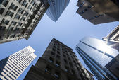 Group of tall office buildings — Stock Photo