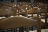 Row of chairs in auditorium — Stockfoto