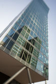 Office building reflecting district — Stock Photo