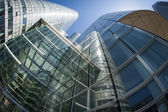 Group of glass business buildings — Stock Photo