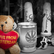 Love from Amsterdam bear souvenir B&W — Stock Photo