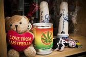 Láska z amsterdamu medvěd — Stock fotografie