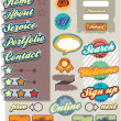 Retro web elements - Stock Vector