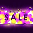 Sale. Violet illustration - Stock Photo