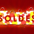Stock Photo: Soldes. Red illustration
