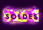 Soldes. Violet illustration — Stock Photo