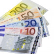 Stock Photo: Euro banknotes notes widespread