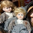 Royalty-Free Stock Photo: Several old dolls at a flea market