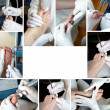 Royalty-Free Stock Photo: Foot Care in process  - Photo Collage