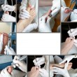 Foot Care in process - Photo Collage — Stock Photo #9600909