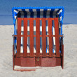 Wicker beach chairs on the beach of the Baltic Sea — Stock Photo