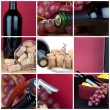 Photo collage of grapes and wine cutlery — Stock Photo #9603006