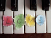 Love piano — Stock Photo