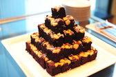 Macadamia Brownie — Stock Photo