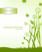 Flowers graphic design , vector illustration — Vector de stock