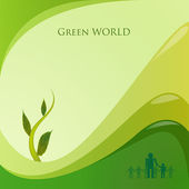 Green world — Stock Vector