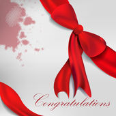 Red gift bows with ribbons. Vector. — 图库矢量图片