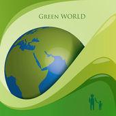 Green world globe — Stock Vector