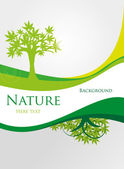 Ecology green tree with text — Stock Vector