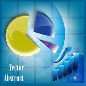 Growth concept business brochure background with diagram — Cтоковый вектор