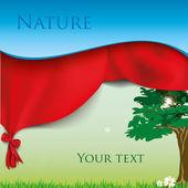 Drzewo ekologia zielony z tekstem — Wektor stockowy