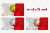 Set of vector gift card — Stock Vector