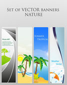 SET OF BEAUTIFUL NATURE BANNERS. vector — Stock Vector