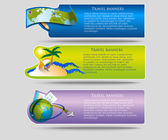 Vector travel banners — Stock Vector