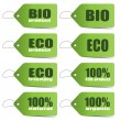 Green Eco tags — Stock Vector