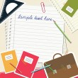 School notes background — Vettoriali Stock