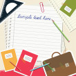 School notes background — Imagen vectorial