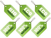 Set of Eco tags — Stock Vector