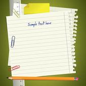 Fond de notes de l'école — Vecteur