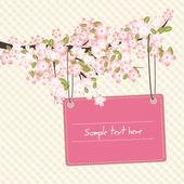 ρομαντική κάρτα άνοιξη — Διανυσματικό Αρχείο