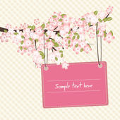 Carta romantico di primavera — Vettoriale Stock