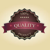 Vintage quality label — Stock Vector
