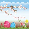 Sweet Easter background — Vector de stock #9649383